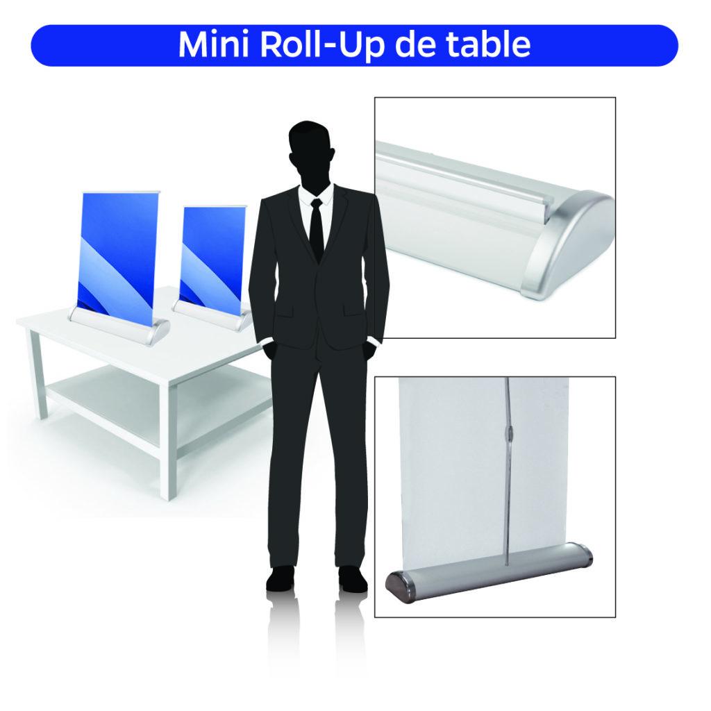 Roll-up de table Mini roll-up Objet promotionnel Goodies Cadeau