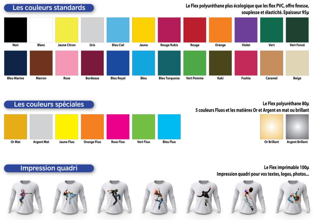 locage Flex Personnalisation Cadeau Anniversaire Fête des mères Association Logo Couleur Nuancier Gamme